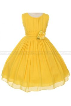 Ball Gown Wrinkled Chiffon Special Knee-length Flowers Girls Dresses