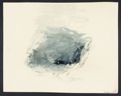 Joseph Mallord William Turner, 'Vignette Study of Storm at Sea, for Campbell's 'Poetical Works'' circa 1835-6 (J.M.W. Turner: Sketchbooks, D...