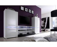 APOLLO - design wall unit white high gloss cabinet TV stand by Neofurn White Tv, White Walls, Wall Design, Shelving, The Unit, Elegant, Storage, Furniture, Home Decor