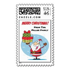 Another cute personalized stamp for the outside of your Christmas letter #christmas #holidays