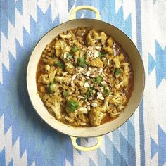 Peanut and almond cauliflower curry, a delicious recipe in the new M&S app.