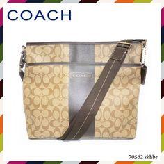 Coach Signature Brown Khaki Chelsea Crossbody Bag F70562