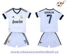 Real Madrid Maillot RONALDO 7 Domicile enfant 2012-2013 FT6043 Youth Soccer d07edc32d