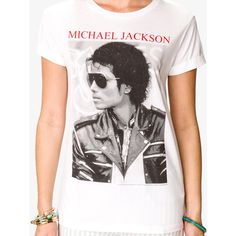 FOREVER 21 Michael Jackson© Tee ($18) ❤ liked on Polyvore