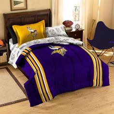 Minnesota Vikings NFL Bed in a Bag (Contrast Series)(Twin)
