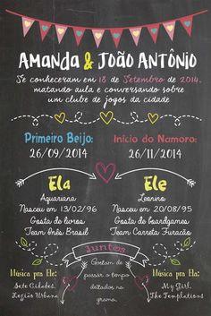 Chalkboard Namorados - Pôster A3 ou A4 Encomendas em https://www.facebook.com/sereiartelojinha