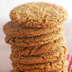 Giant Ginger Cookies from BHG. Ginger cookies are the best! Galletas Cookies, Cupcake Cookies, Cupcakes, Bar Cookies, Cookie Bars, Holiday Baking, Christmas Baking, Christmas Goodies, Favorite Cookie Recipe