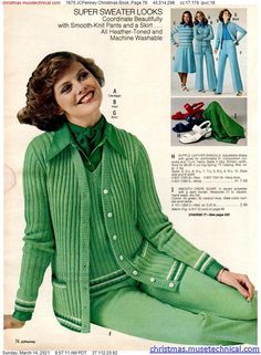 1975 JCPenney Christmas Book, Page 76 - Christmas Catalogs & Holiday Wishbooks Christmas Catalogs, Christmas Books, 70s Women Fashion, Vintage Fashion, Fashion Marketing, Fashion Catalogue, Knit Pants, Classic Style, Classic Fashion