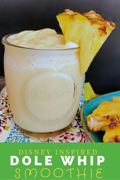 Dole Whip Smoothie - Start the day with a little Disney Inspired treat. This pineapple smoothie is easy to make and oh so delicious Healthy Holiday Recipes, Healthy Desserts, Real Food Recipes, Top Recipes, Easy Recipes, Healthy Smoothies, Smoothie Recipes, Vitamix Recipes, Yummy Drinks