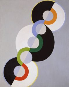 Tate glossary definition for simultanism: Term invented by artist Robert Delaunay to describe the abstract painting developed by him and his wife Sonia Delaunay from about 1910 Sonia Delaunay, Robert Delaunay, Elements And Principles, Elements Of Design, Principles Of Art Balance, Kandinsky, Pintura Zen, Rhythm Art, Balance Art