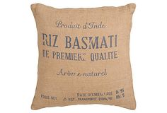 Basmati rice bag pillows!  Might have to snag a pair once I have a sofa