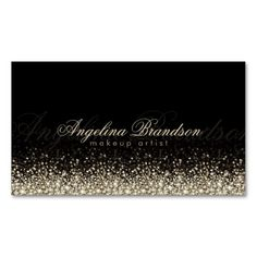 230 best makeup artist business cards images on pinterest makeup shimmering silver makeup artist damask black card accmission Images
