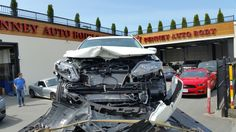 another day another #towin, #drivesafebc, #nissan #rogue #autobody Vancouver, Collision Repair, Nissan Rogue, Rogues, Body, Glass, Drinkware, Yuri