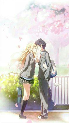 'Shigatsu wa Kimi no Uso / Love 愛' Poster by Graphs Sad Anime, Anime Life, I Love Anime, Manga Anime, Anime Art, Hikaru Nara, Your Lie In April, Slayer Anime, Amazing Drawings