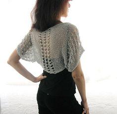 COTTON SHRUG  ....Elegant Hand Knitted Summer Shrug in by Rumina, $45.00