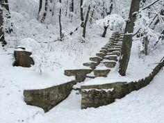 Winter landscape in Zheleznovodsk, Caucasus Mountains   Зимний пейзаж в горах на Кавказе