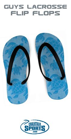 As the warm weather and days on the beach approach, these lacrosse flip flops with a fun lax turtle design are sure to be a favorite of players, fans, and coaches.
