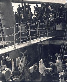 "Immigrants tolerated adverse conditions to get to America. Photo ""The Steerage"" 1907 by Alfred Stieglitz,"
