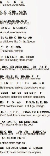 Flute Sheet Music: Let It Go PART 1