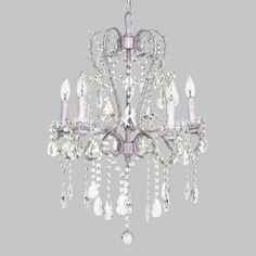 Lavender 5 Light Whimsical Beaded Chandelier