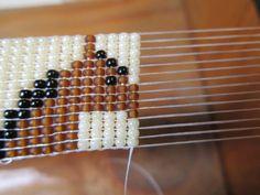 Bead Loom Designs, Bead Loom Patterns, Jewelry Patterns, Beading Patterns, Native American Crafts, Native American Beading, Horse Pattern, Horse Profile, Loom Beading