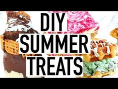 DIY Summer Treats! Easy and Quick! - YouTube