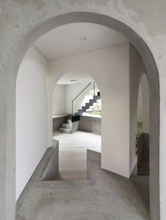 archways from ABE house designed by Urban Architecture Office.