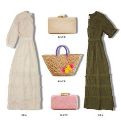 Sea's beautiful #boho dresses and Kayu's summery bags will be perfect for upcoming warmer days! Shop online: http://n-duo-concept.com/styleset110