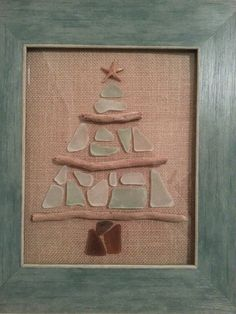 Sea Glass Christmas Tree - Created by Stacie Taylor - http://www.pinterest.com/sctaylor/