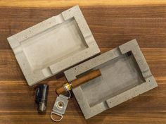 Shop for concrete on Etsy, the place to express your creativity through the buying and selling of handmade and vintage goods. Concrete Cement, Painting Concrete, Concrete Pots, Keramik Design, Beton Design, Concrete Crafts, Concrete Projects, Cigar Ashtray Diy, Small Wood Projects