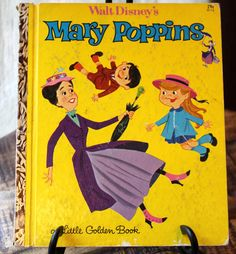 Set of Two 1st Edition 1964 Rare Walt Disney Mary Poppins and Mary Poppins A Jolly Holiday Golden Books on Etsy, $22.00