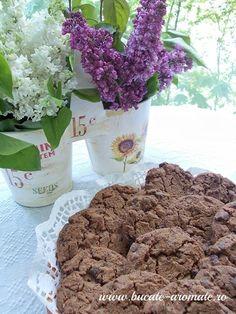 fursecuri cu ciocolata Planter Pots, Sugar, Desserts, Deserts, Dessert, Postres, Food Deserts