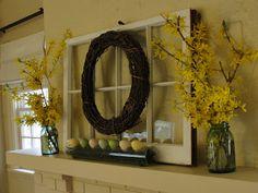 Sixth Street Sunshine: Easy Easter Mantle
