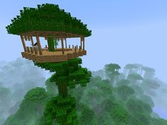 """Great news """"Minecraft"""" fans, you can finally play the game you love on your next-generation gaming console. Mojang, the studio behind """"Minecraft,"""". Minecraft House Designs, Minecraft Creations, Minecraft Crafts, Minecraft Jungle House, Minecraft Park, Minecraft Skins, Minecraft Architecture, Minecraft Buildings, Minecraft Treehouses"""