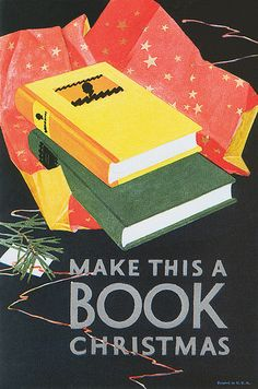 """Make It a Book Christmas"" Vintage Christmas Advertising"