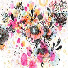 Giclee Fine Art Print - De Novo - by Yellena James Yellena James, Pintura Country, Art Abstrait, Art Design, Textile Design, Graphic Design, Prints For Sale, Oeuvre D'art, Bunt