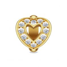 Heart Love Gold, Goldplated (3µm silver charm)