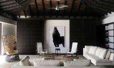 Modern, clean ..like rattan chair photo of horse