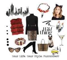 """""""Purrrrfect!"""" by ginnytaylordesigns on Polyvore featuring Eva Solo, Altuzarra, Tom Ford, Dsquared2, GUESS, TAXI, Stila, Meteo by Yves Salomon, Victoria Beckham and Yves Saint Laurent"""