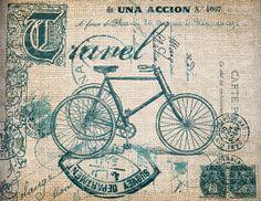 Antique AQUA Travel Victorian Bicycle by AntiqueGraphiqueAged, $1.00