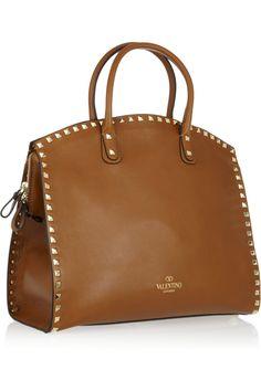 Valentino/ Rockstud Dome leather tote