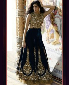 Marvelous Navy Blue Anarkali
