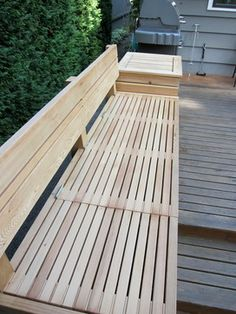 Built - in bench with storage - patio furniture and outdoor furniture - seattle - Cedarcraft construction LLC