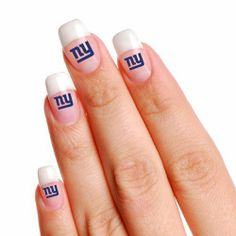 NEW YORK GIANTS OFFICIAL LOGO FINGERNAIL TATTOOS by NFL. $1.95. You get four sheets of five fingernail-sized tattoos. Enough to cover TWENTY fingernailsSizes vary for differing size nails. Easy to apply. Takes only about 30 seconds. Easy to remove using rubbing alcohol or baby oil. Vibrant colors and crisp graphics. Official team logos and colors. Officially licensed by the league and the team. A terrific gift idea. Made in the USA.. Save 87%!