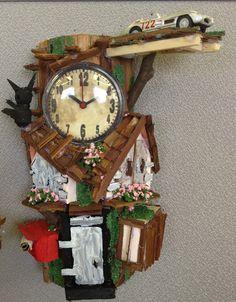 Handcraft remade Tree-house clock.