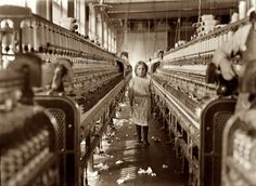 While Lewis Hine was documenting these child laborers, many employers passed them off as at least 16 years old. Description from reelfoto.blogspot.com.tr. I searched for this on bing.com/images