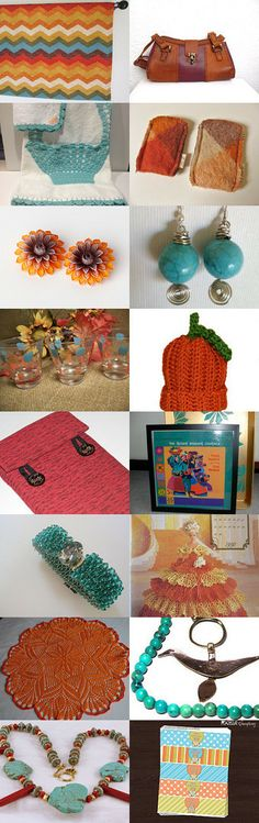 Vibrant Adobe, Turquoise and Red by Angela on Etsy--Pinned with TreasuryPin.com