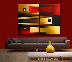 modern artwork thumbnail - Pinturas al óleo - Bilder Triptych Wall Art, Wall Canvas, Canvas Art, Modern Artwork, Art Abstrait, Abstract Photography, Geometric Art, Painting Inspiration, Inspiration Wall
