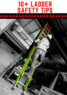 Working Safely With Ladders - Ladder Safety Hub Safety Slogans, Safety Rules, Safety Tips, Ladder Safety Training, Safety Ladder, Health And Safety Poster, Safety Posters, Safety Toolbox Talks, Fall Arrest System