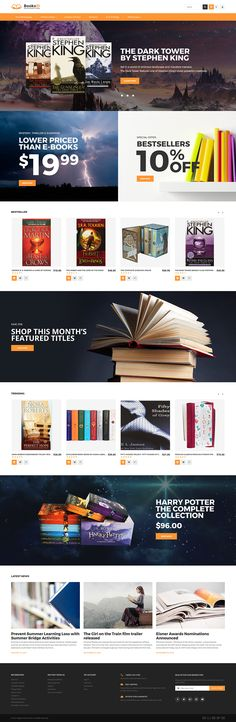 Books Online Store #Magento #template. #themes #business #responsive #webshop #Magentothemes
